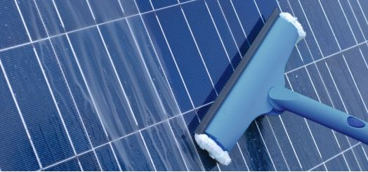 Should I use soap to clean my solar panels